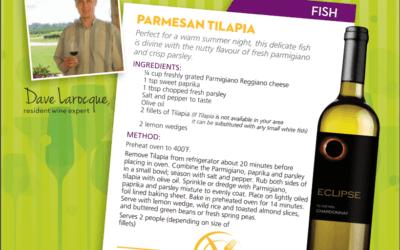 Recipe: Parmesan Tilapia with Eclipse Sonoma Dry Creek Chardonnay