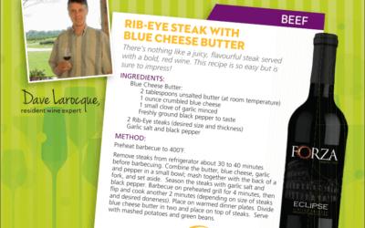 Recipe: Rib-Eye Steak with Blue Cheese Butter